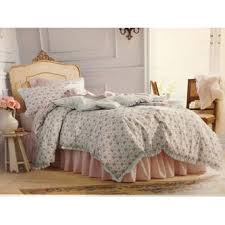 simply shabby chic shabby chic twin comforter set blue flowers bedding