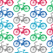 bicycle wrapping paper bicycle fabric wallpaper gift wrap spoonflower