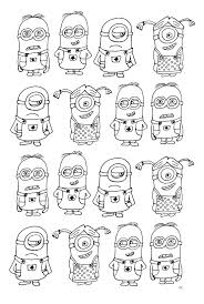 free coloring page coloring numerous minions coloring page with
