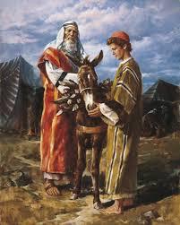 abraham taking isaac to be sacrificed