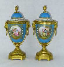Sevres Vases For Sale Antiques Atlas Pair 19th C French Sevres Lidded Vases