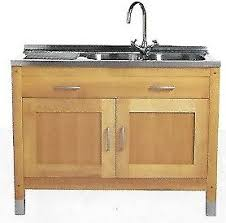 Kitchen Sink Units Free Standing Solid Beech Kitchen M S New Stored Sink Unit