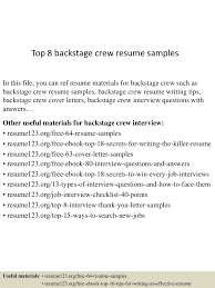 Resume Sample Bahasa Melayu by Top8backstagecrewresumesamples 150717051511 Lva1 App6892 Thumbnail 4 Jpg Cb U003d1437110162