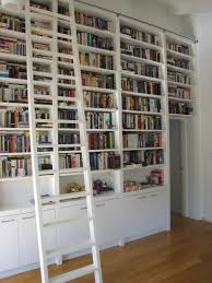 Rolling Bookcase Ladder by Rolling Library Ladder Uk Large Size Of Library Bookcase With