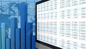 Spreadsheet Graphs And Charts Computer Spreadsheet And Charts To Show The Concept Of Modern