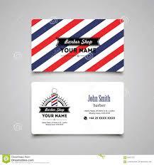 Hair Salon Price List Template Free Hair Salon Barber Shop Business Card Design Template Stock Vector