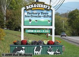 Vermont travel gifts images Ben and jerry 39 s ice cream sign in the travelogues and photos jpg