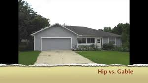 what is difference between a hip and a gable roof youtube