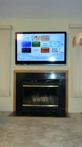 wall mount tv on stone fireplace installing above cost to install