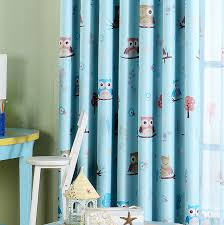 Baby Blue Curtains Custom Owl Baby Blue Polyester Curtains