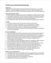 fundraising strategy template 6 free word pdf document