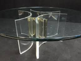 vintage brass smoked glass coffee table 1970s for sale at pamono