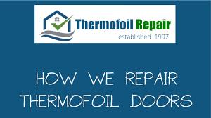 thermofoil cabinet doors repair thermofoil cabinet door repair youtube