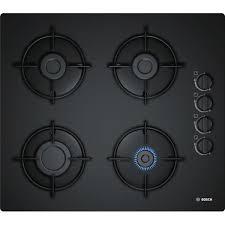 plaque cuisine gaz bosch pop6b6b10 table de cuisson gaz 4 foyers 7400w l56 x