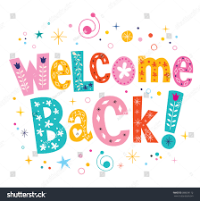 welcome back decorative lettering text stock vector 288670112