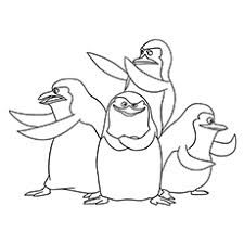 10 free printable penguins madagascar coloring pages