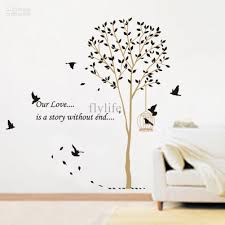 birds nesting in tree nature wall stickers wall decor decals
