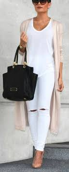all white casual all white blush cardigan but i cld def with my