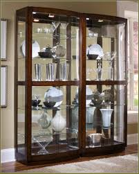 curio cabinet howard miller cherry largeio display cabinet