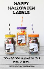 halloween lables happy halloween mason jar gift yesterday on tuesday