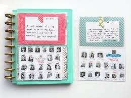 scrapbook photo album constructing a design team scrapbook album using the happy