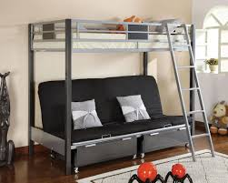 Amazoncom Contemporary Style Twin  Futon Bunk Bed With Twin - Metal bunk beds with futon