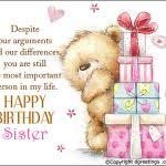 birthday card to sister happy birthday sister free brother sister