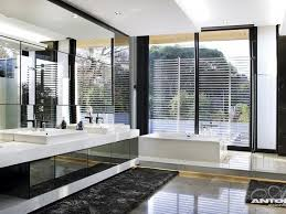 modern bathroom design at u shaped house design by saota and