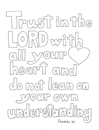 coloring pages for kids by mr adron trust in the lord scripture