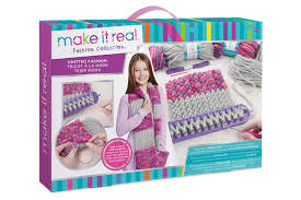 hands scarf knitting craft kit for kids