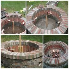 How To Make A Firepit Out Of Bricks Diy Brick Pit In One Weekend Saved Some Brick Just For