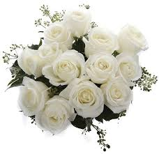 White Rose Bouquet One Dozen White Roses Florist Sydney Melbourne Brisbane Canberra