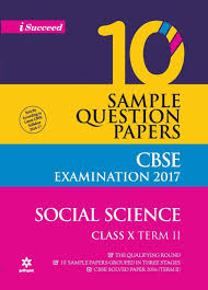 cbse 10 sample question papers social science for class 10th