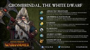 Array Map Grombrindal Legendary Lord Skill Array Totalwar