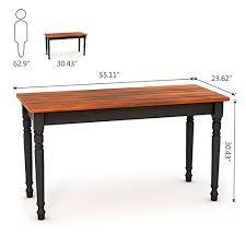 Office Desks Oak Tribesigns Computer Desk 55 Large Office Desk Study Writing Desk