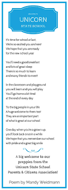 fundraising ideas welcome to school gifts and poems