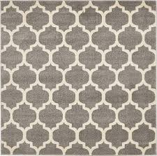5 Foot Square Rug Dark Gray 6 U0027 X 6 U0027 Trellis Square Rug Area Rugs Esalerugs