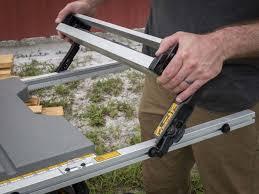 dewalt table saw rip fence extension best portable jobsite table saw shootout pro tool reviews