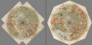 map erth unique ancient map depicting the earth as seen from space restored