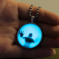 steampunk pendant necklace images 2018 steampunk fire glow in the dark necklaces glowing shadow jpg
