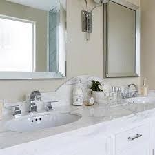 Backsplash Ideas For Bathrooms Curved Marble Vanity Backsplash Design Ideas