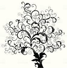 swirly tree stock vector 165673466 istock