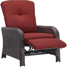 Red Club Chair Strathmere Outdoor Reclining Arm Chair Crimson Red 7769514 Hsn