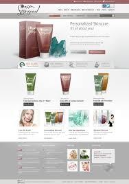 online skin care website design service e commerce website design
