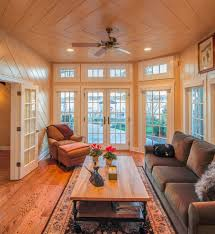 Wood Floor Paneling French Windows Wood Family Room Eclectic With Wood Paneling Wood