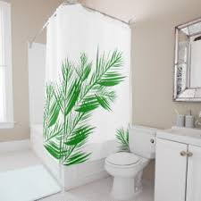 palm leaves shower curtains zazzle