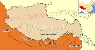 Map Of China And India by Where Is Tibet Located On Map Of China Asia And World