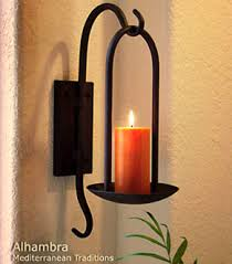 Wall Mounted Candle Sconce Iron Wall Decor Mediterranean Wrought Iron Wall Decor Toppers