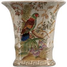 oriental designs bird paradise planter