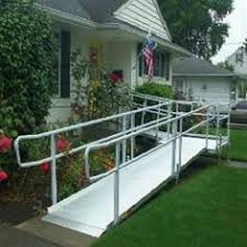 Wheelchair Ramp Handrails Pvi Modular Xp Aluminum Wheelchair Ramp With Handrails 100 Lb